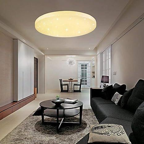 VINGO® 16W LED Moderno Lámpara De Techo Blanco Cálido LED plafón Iiluminación Interior Lámpara de salón Pasillo Cocina Dormitorio cocina y cuarto de ...