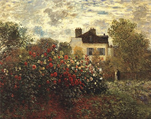 (The Artist's Garden in Argenteuil by Claude Monet Art Print, 23 x 18 inches)