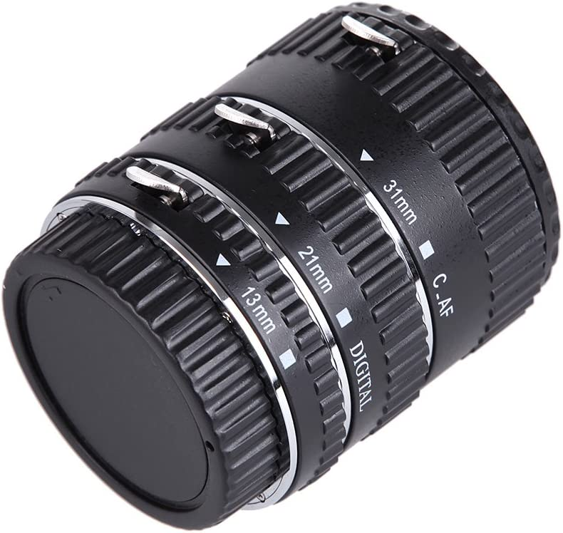 Veecome Auto Focus AF Extension Tube Set for Canon SLR Camera EF-S Lens Plastic Tube Metal Bayonet
