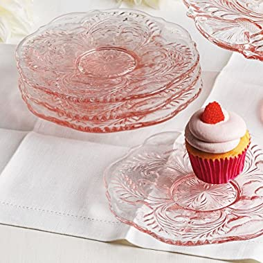 Smithsonian Inverted Thistle Glassware Dessert Plates