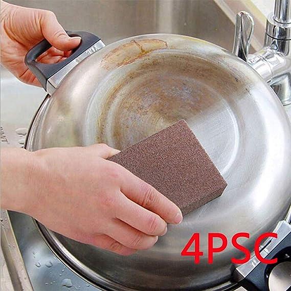 Syeytx - Esponja de carbono, 4 unidades, para la cocina, para la suciedad persistente: Amazon.es: Hogar