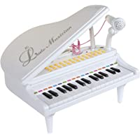 VikriDa White Piano for Baby & Toddler Piano Keyboard Toy for Girls Kids Birthday Gift Toys for 1 2 3 Year Old-- Multi-Functional, White