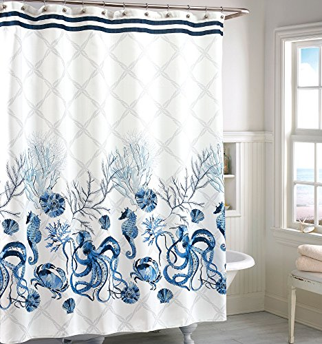 - CHF Octavia Shower Curtain One Size Blue