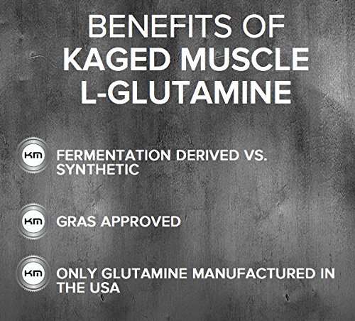 Kaged Muscle Pure L Glutamine Powder, Unflavored, Zero Other Ingredients
