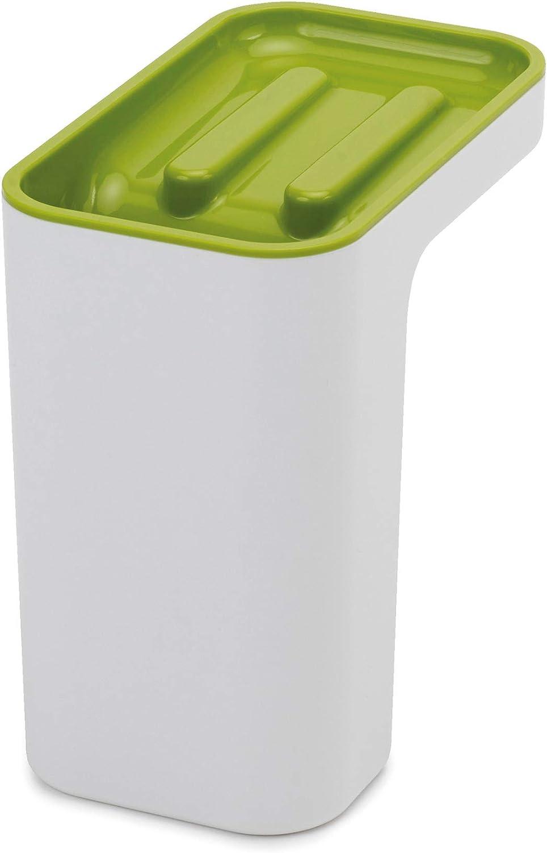 Joseph Joseph 85126 Sink Pod Self-Draining Sink Caddy Kitchen Sink Organizer Sponge Holder Dishwasher-Safe, Green