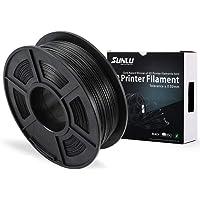 SUNLU PLA Carbon Fiber 3D Printer Filament, PLA Carbon Fiber Filament 1.75 mm, 3D Printing filament Low Odor Dimensional Accuracy +/- 0.02 mm, 2.2 LBS (1KG)