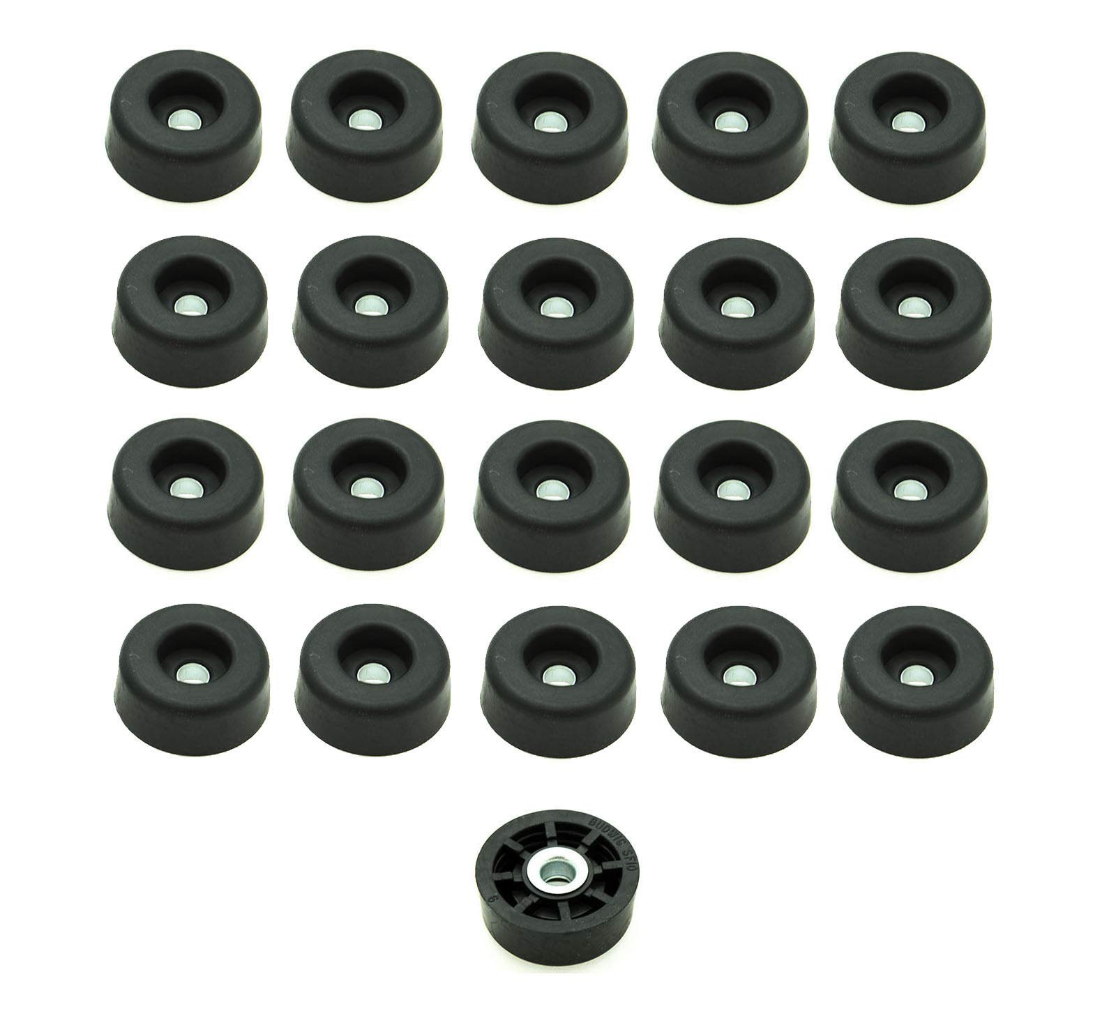 20 Round Rubber FEET Bumpers 1/2 H x 1 W Radio AMPS/Made in USA/Free S&H