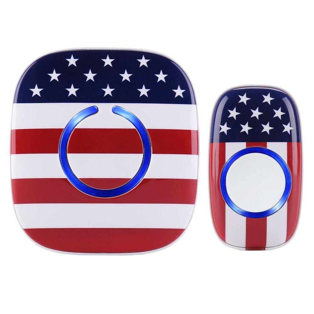 Usa American Flag Wireless Doorbell