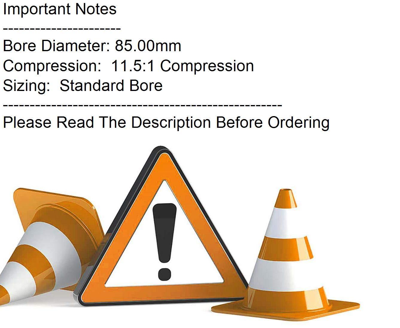 Wiseco Piston kit 85.0 mm Standard 11.5:1 Compression  40146M08500