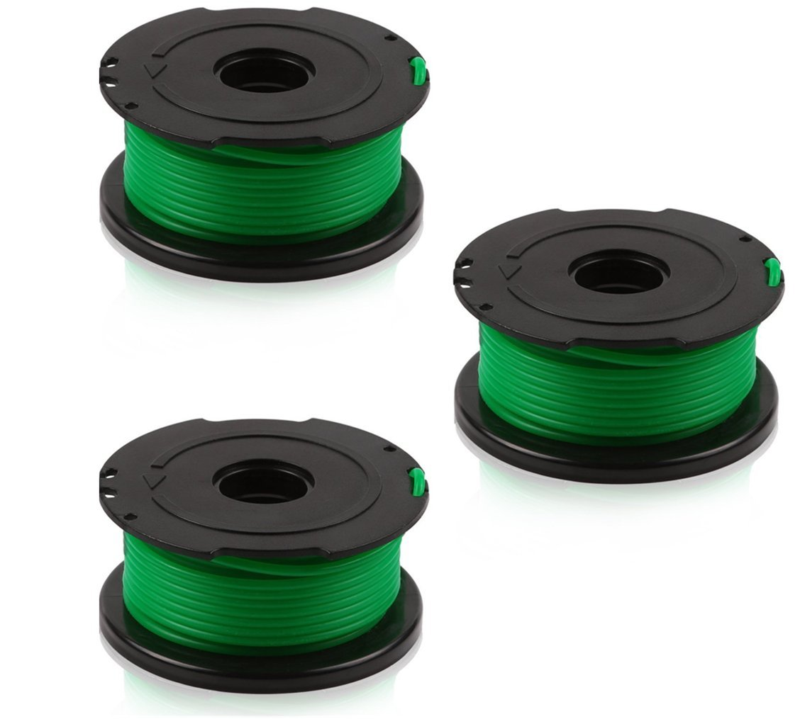 BLACK+DECKER SF-080 compatible replacement Trimmer Spool (3-Pack), fit model GH3000