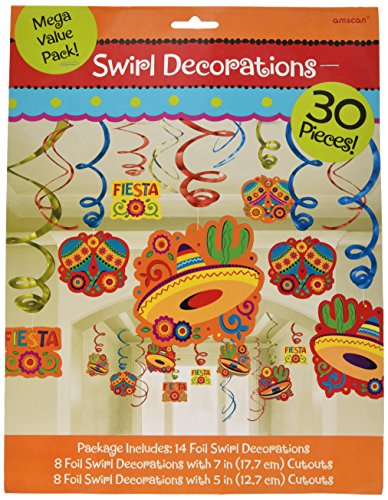 Cinco De Mayo Fiesta Foil Swirls Mega Value Pack | Party -
