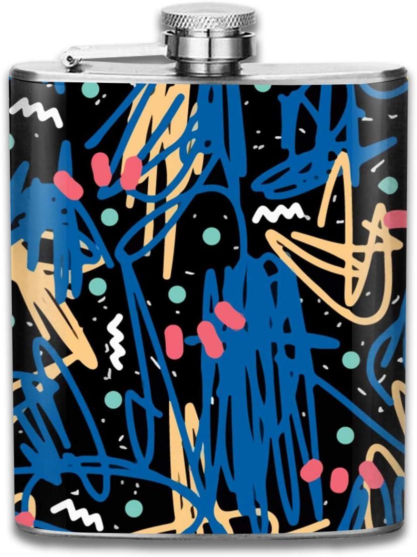 Color Graffiti Art Gift para hombres 7 oz Prueba de fugas 304 ...