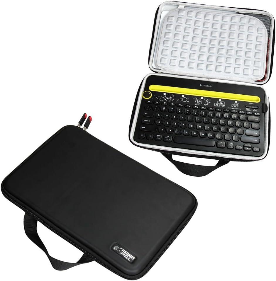 Hermitshell Caja protectora de viajes EVA Llevar tamaños cubierta de la bolsa del bolso compacto para Logitech K480 Bluetooth Multi-Device Teclados iPad/Tablet/Samsung Galaxy Tab/Fire HD/Apple iPad Mi