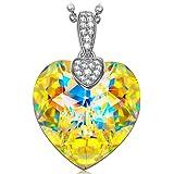 "NINASUN ""Fantasy Dream"" 925 Sterling Silver Aurore Boreale Crystals from SWAROVSKI®, Women Necklace Pendant, Allergen-free, 45+6cm Extender"