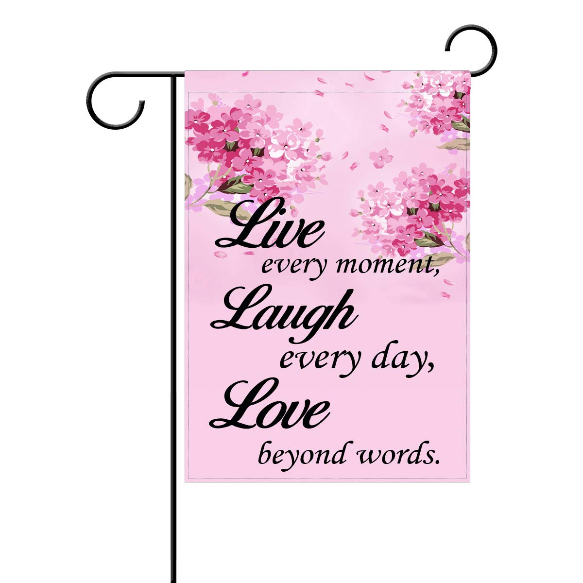 Amazon.com: Coolstuffs Live Laugh Love quotes flowers ...