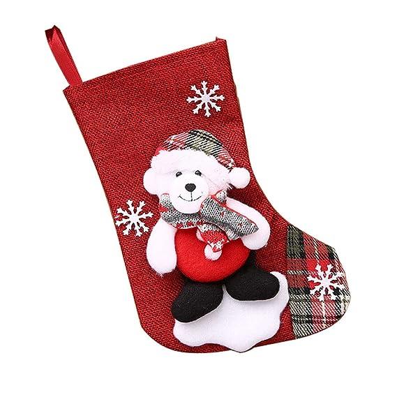 Weimay 1 UNIDS Decoraciones de Navidad de Calcetines de Caramelo Decoración de Navidad Linda Inicio Colgante Árbol Decoración Regalos Bolsa(Style-1) 22 ...