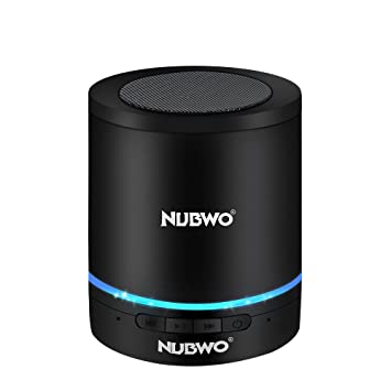 aac00699ae NUBWO A3+ 小型 円筒形 Bluetooth スピーカー コンパクト ブルートゥース ワイヤレス スピーカー Compact Mini  Speaker 3Wドライバー