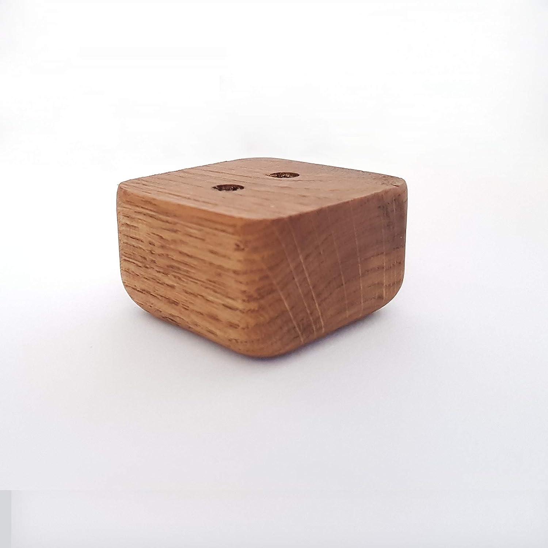 4 Stück Möbelfuß Möbelfüße Bettfuß Schrankfuß Sofafuß Couchfuß Holz Buche