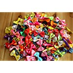 yagopet-Pet-50pcs-in-Pairs-Dog-Hair-Bows-with-Rubber-Bands-Rhinestone-Pearls-Bows-Bowknot-Bows-Dog-Topknot-Bows-Cute-Dog-Pet-Hair-Clips-Cute-Dog-Hair-Bows-Pet-Grooming-Products-for-Spring-Dog-Topknot