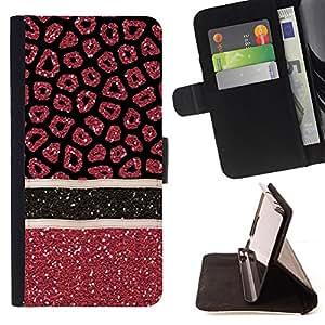 - Blood Medical Art Glitter Red - - Monedero PU titular de la tarjeta de cr????dito de cuero cubierta de la caja de la bolsa FOR Apple Iphone 5C RetroCandy