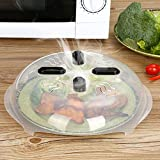 Microwave Plate Cover - Newly Improved Magnetic Food Splatter Hover Cover from CleanWave | Universal Fit, BPA Free and Dishwasher Safe | Towel Added