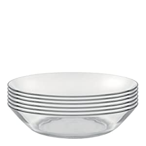 Duralex Made In France Lys 8 Inch Clear Calotte Plate, Set of 6