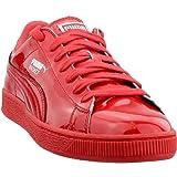 PUMA Men's Basket Matte & Shine Fashion Sneaker, High Risk Red S, 9 M US