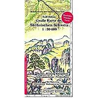 Große Karte der Sächsischen Schweiz 1:30000: Laminierte Ausgabe (Regenfest - Wasserabweisend - Handlich)