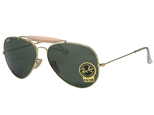 40a03bf68f Ray Ban RB3029 Outdoorsman II L2112 Gold Sunglasses 62mm  Amazon.co ...