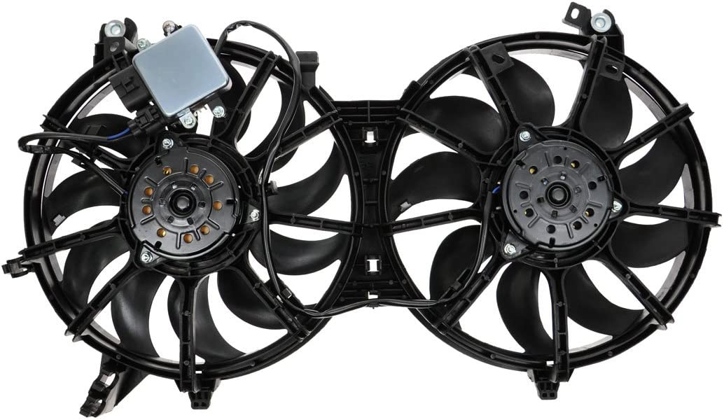 Dual Radiator Cooling Fan Assembly NEW for Nissan 370Z FX35 FX50 G35 G37
