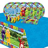 Teletubbies Childrens Birthday Tableware Party Pack Kit For 16