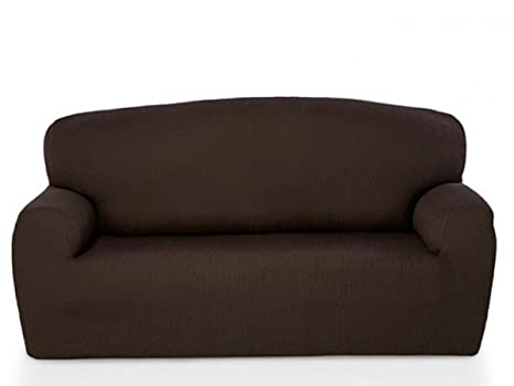 textil-home - Duo Funda de Sofá Elástica Marian, 2 plazas + 3 plazas. Color Chocolate