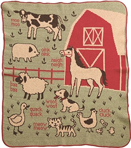 (Green 3 Recycled Cotton Junior Throw Made in USA ... (7A Farm))