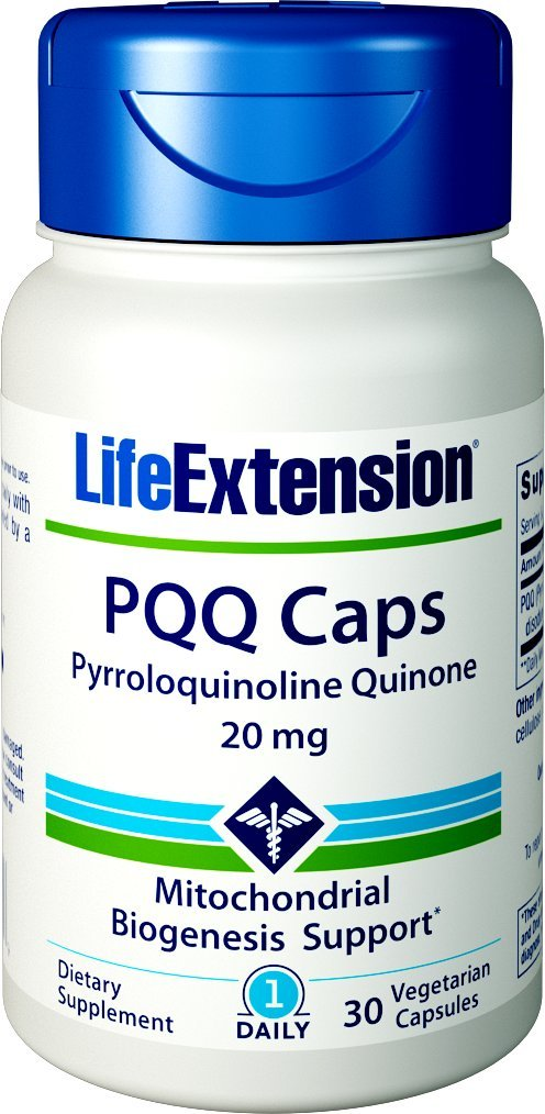 Life Extension PQQ Caps (Pyrroloquinoline Quinone) 20 mg, 30 Vegetarian Capsules