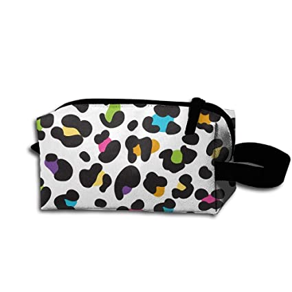 3cae55749ad9 Travel Makeup Colorful Cheetah Leopard Print Cosmetic Bags Outdoor ...