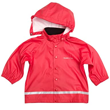 a0dbc08f56a9 Amazon.com  Polarn O. Pyret Classic RED RAIN Jacket (Baby)  Clothing