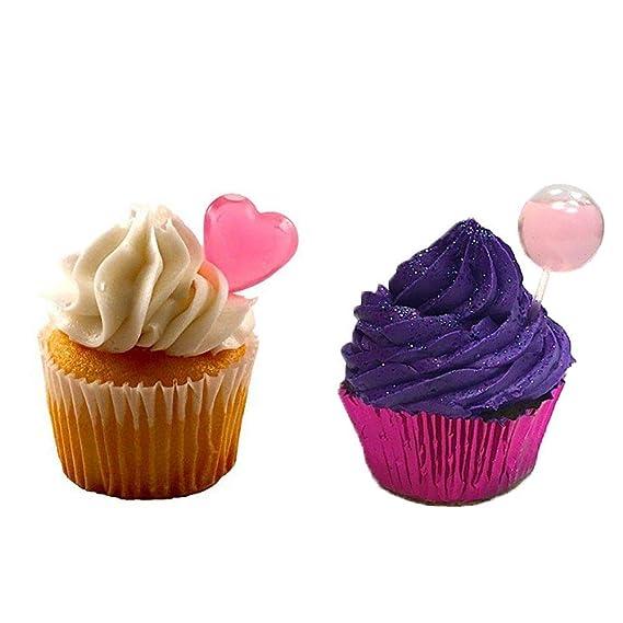 tomnk 150pcs 4 ml pipetas de transferencia de plástico Pipetas corazón redondo rectangular de plástico Squeeze apto para chocolate, Cupcakes, ...