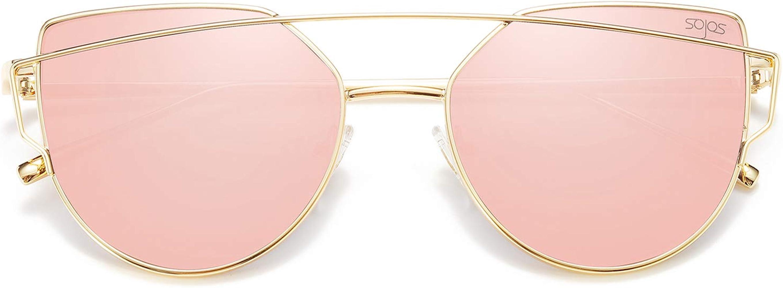 UK fast post Black Purple Pink Mirrored Sunglasses Mirror UV400 Cateye oversized
