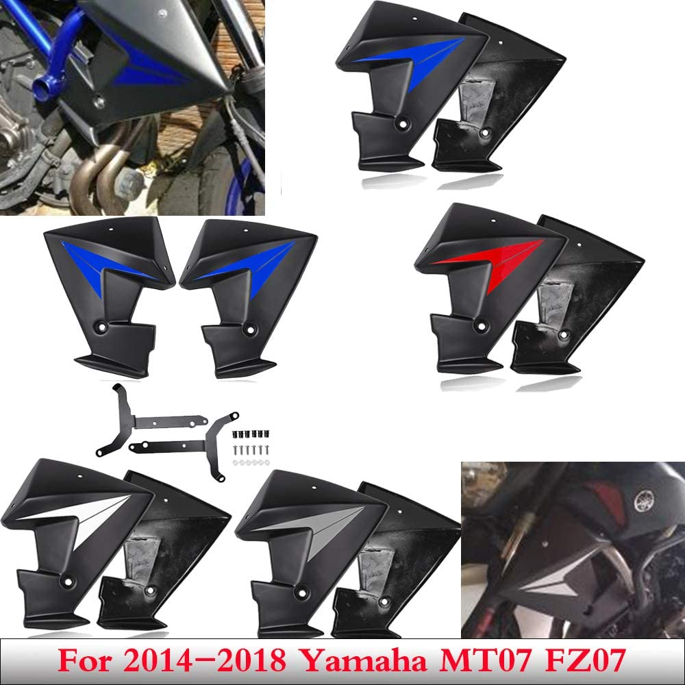 Amazon Com Mt 07 Fz 07 Accessories Radiator Side Spoiler Panels Scoops Cover Guards Fairing For 2014 2018 Yamaha Mt 07 Fz 07 Mt07 Fz07 2015 2016 2017 Automotive