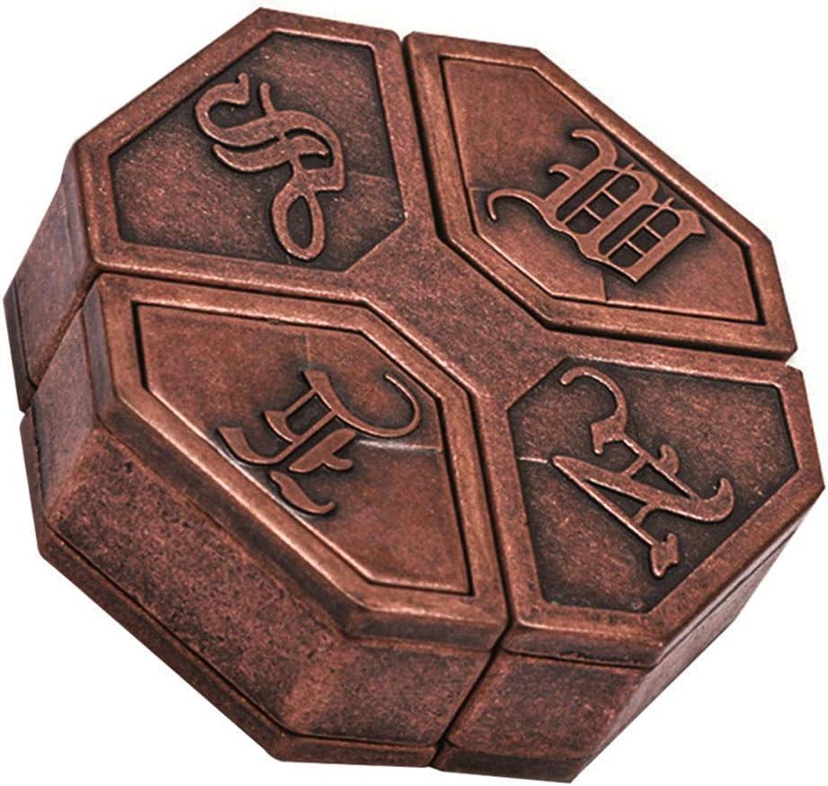 UYGN Inteligencia De Regalo para Adultos Vintage Metal Rompecabezas Caja Cerradura Aula Juguete Educativo Niños Escuela Magia Divertido Juego Mente Madera: Amazon.es: Juguetes y juegos