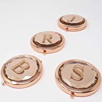 Rose Gold Personalised Compact Mirror | Monogrammed Bridesmaid Gift