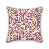 PILLO geometry pillow covers 16 x 16 inches / 40 by 40 cm for lover,monther,deck chair,chair,son,study room with 2 sides