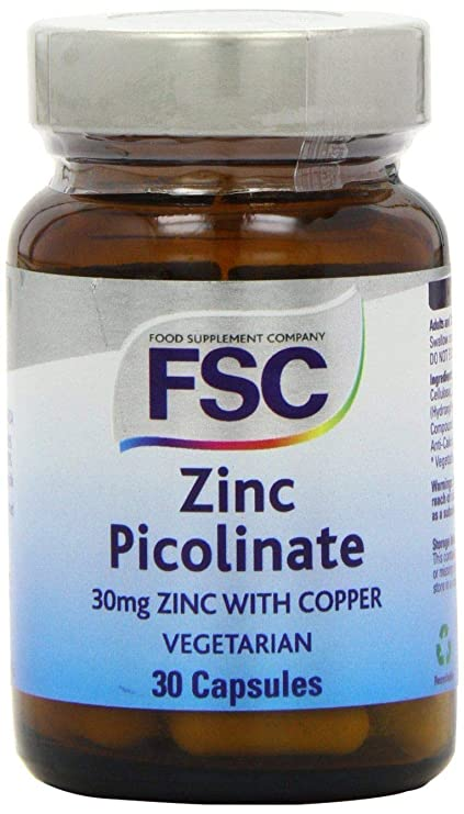 ZINC picolinato 30 mg COBRE 2 mg, 30 caps. FSC (PACK 2 UDS