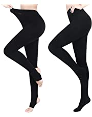 Pvendor Opaque Fleece Lined Tights Women Winter Warm Thermal Thick Tights Cotton