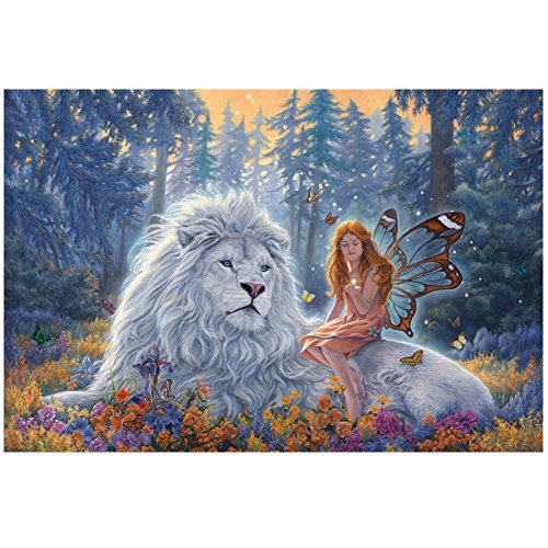 ZOOYA DIY Diamond Painting Girl and Lion Resin Pasted Cross Stitch for Home Decor A129