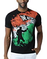 Huetrap Men's India One Nation Black T Shirt
