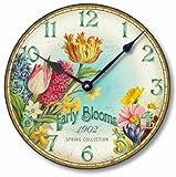 Item C8357 Vintage Style Floral Clock (12 Inch Diameter) Review