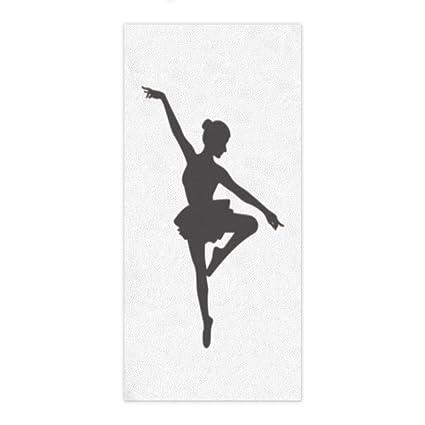 ezon-ch moderno Ballet Dancer Silueta de la ducha toalla de mano baño toallas de