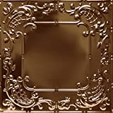 Shanko CO515DA Pattern 515 Authentic Pressed Metal Wall and Ceiling Tiles, 20 sq. ft., Copper
