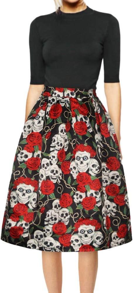 Falda de calavera de arce para mujer large/extra-large Red: Amazon ...